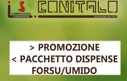 > PROMOZIONE <   PACCHETTO DISPENSE FORSU/UMIDO