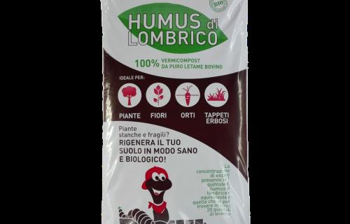 Humus di lombrico BIO – 100% vermicompost di Letame bovino