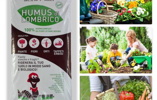 Humus di lombrico BIO – 100% concime naturale made in Italy