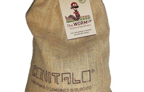 Humus di lombrico BIO –  Concime naturale 100% con Vasetto in Juta